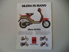 advertising Pubblicità 1983 GILERA GSA 50