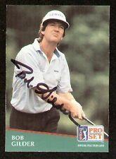 Bob Gilder signed autograph 1991 Pro Set Golf No. 56