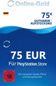 75€ PSN Card Playstation Network Guthaben Code - 75 EURO PS3 PS4 PS Vita - DE
