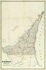 Map of Wisconsin Territory c1839 24x36