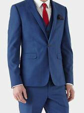 Burton SKINNY FIT BLUE Suit JACKET 34S - RRP £80!! BRAND NEW