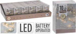 10er Micro LED Lichterkette Warmweiß batteriebetrieben Weihnachtsbeleuchtung