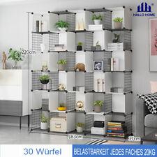 Hallo Home® Steckregal aus Drahtgitter und Kunststoff Regalsystem Standschrank