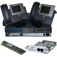 Cisco CCNA Voice Collaboration Lab Kit 2811 CME + FXO Card + PVDM2 3560 + 7940