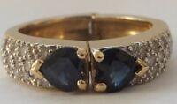 Vintage 18ct Gold Sapphire & Diamond  Ring
