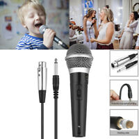 Unidirectional Wired Handheld Mic Dynamic Microphone Vocal Singing with XLR 3Pin