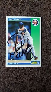 1992 Score Mike Harkey #67 - Chicago Cubs - Autographed!