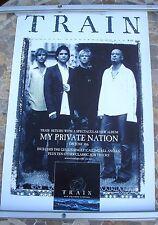 TRAIN My Private Nation 2003 promo poster 30 x 20  original
