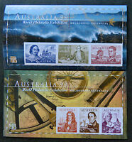 Australian Decimal Stamps: 1999 Navigators-Imperforate Mini Sheets x 2 MNH