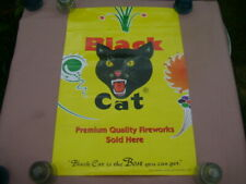 Black Cat Firecrackers & Fireworks Poster