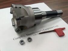 3 Face Mill R200 W 5 Sandvik Rckt1204 Round Inserts R8 Arbor506 R200 3
