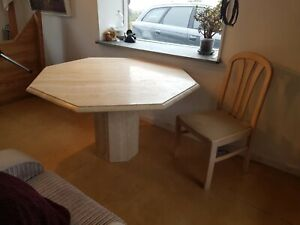 Italian Extendable Hexagonal Marble Dining Table & Chairs