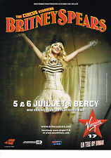 PUBLICITE ADVERTISING 094  2009  BRITNEY SPEARS en tournée THE CIRCUS STARRING
