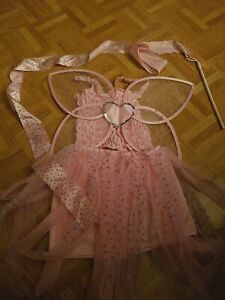Kinder Kostüm Schmetterling Gr. 128 rosa