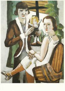Postkarte: Max Beckmann - Damen am Fenster