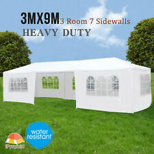 10' x 30' Outdoor Canopy Wedding Party Tent Pavilion Cater Event 7 Sidewalls