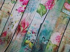 5m Birds Butterflies Digital Printed Designer Cotton Upholstery Blinds Fabric