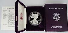 1989-S Proof Silver Eagle with Box & Coa