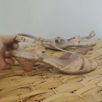 Saracole Nude Small Heels Strappy Size 38 Women's Shoes