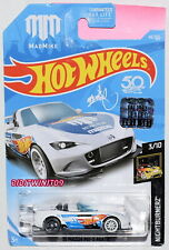 Hot Wheels 2018 Nightburnerz '15 Mazda Mx-5 Miata #3/10 White Factory Sealed