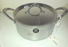 24cm (5L) Tri-Ply Casserole with Lid in Stainless Steel for Induction Beka Line