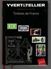 """catalogue Yvert et Tellier """"des timbres de l'année 2019 .Comme neuf , peu servi"""