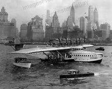 8x10 Print Dornier Aircraft DO-X Flying Boat New York 1930's #DOX