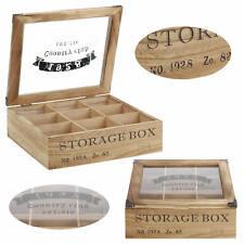Design Aufbewahrungsbox Schmuckkiste Teebox Teekiste Teekasten Shabby Country