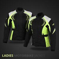 WOMEN MOTORBIKE WATERPROOF JACKET COAT MOTORCYCLE RACING JACKET WITH ARMOURS