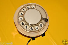Vintage Beige Phone Dialer Rotary Telephone Parts Dial Rare USSR Soviet Era #1