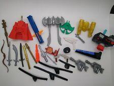 29 piece action figure parts accessories lot GiJoe, Batman, Power Rangers 00029