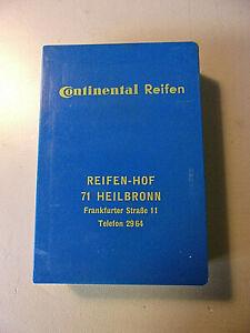 ALTES OLD SKAT KARTENSPIEL CONTINENTAL REIFEN REIFEN HOF 71 HEILBRONN