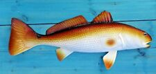 "Redfish Hand Painted 28"" Replica Wall Mount Sculpture Game Fishing Salt Water"