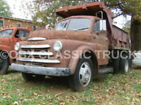8x10 Photo:Vintage 1949 DODGE B Series Dually Dump Truck Pickup on the sidelines