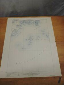 1920 USPUC Tenants Harbor Maine Quadrangle topographic Map. Not reproduction.