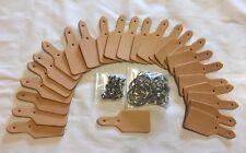 Leather Tag Key Fob Kit 25 pack 6-7 Oz