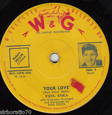 PAUL ANKA Lonely Boy / Your Love 45