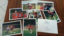 lot  8 photos officielles FOOTBALL club LORIENT FCL STEPHANE PEDRON 1997/1998