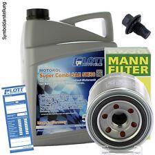 Ölwechsel Set 5L 5W-30 Öl Motoröl Lott + MANN Ölfilter + Ablassschraube