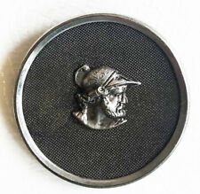 "Large 1 5/16"" Metal Picture Button - Greek, Roman Warrior - Ajax?"