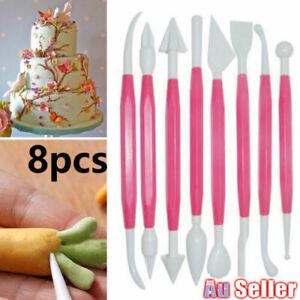 8pcs Flower Modelling Tools Paste Cookie Kit Cake Fondant Decorating Set DIY
