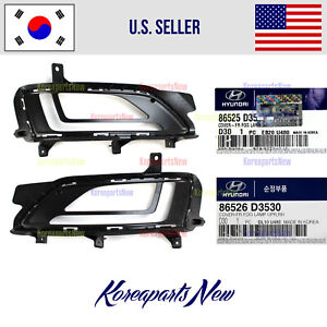 Front Bumper Cover Fog Lamp Upper Left + Right ⭐OEM⭐ Hyundai Tucson 2019-2021