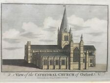 1784 Antique Print; Christ Church Cathedral , Oxford
