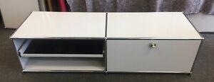 USM Haller Light Grey Sideboard TV Music Low Board With Soft-close Door 500mm