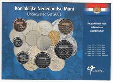 NETHERLANDS ROYAL DUTCH MINT UNC SET 2001 6 Coins 5 Cents - 5 Gulden B3