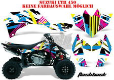 AMR RACING DEKOR GRAPHIC KIT ATV SUZUKI LTR 450 LT-R FLASHBACK B