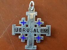 Croix de Jerusalem, en Argent Massif émailllé, Début XXe Siècle