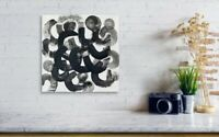 Gallery Price $100 8*8 Canvas original hand-painted Abstract B&W painting