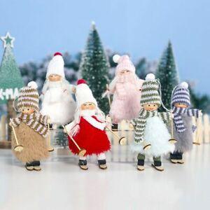 VOSAREA Bambola di Peluche Natalizia Pendenti Albero di Natale Appeso Bambola di Alce Ornamenti Natalizi Decorazione Albero di Natale Alce Grigio