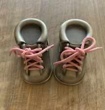 Stephan Baby Pewter Keepsake First Tooth and First Curl Set Shoes Girl